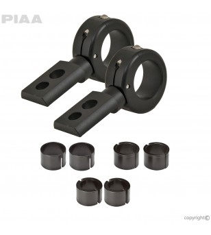 "PIAA Universal Mounting 7/8"" - 1-1/4"" 360 Aluminum Brackets (set) - 30740 - Overige accessoires - Unspecified"
