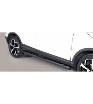 Qashqai 2017- Grand Pedana ø 76 Black Powder Coated - GP/363/PL - Sidebar / Sidestep - Unspecified