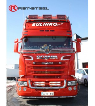 Scania R - serie Lightbar large (big grill) - 1158 - Bullbar / Lightbar / Bumperbar - RST-Steel - Grille Bars - Verstralershop