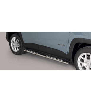 Renegade 18- Oval Design Side Protections Inox - DSP/376/IX - Sidebar / Sidestep - Unspecified