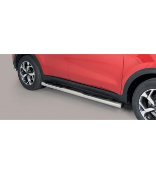 Sportage 18- Grand Pedana (Side Bars with steps) Inox - GP/403/IX - Sidebar / Sidestep - Unspecified