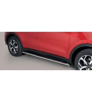 Sportage 18- Oval grand Pedana (Oval Side Bars with steps) Inox - GPO/403/IX - Sidebar / Sidestep - Unspecified