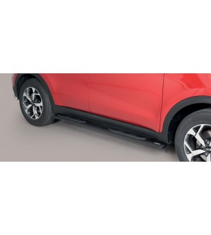 Sportage 18- Oval grand Pedana (Oval Side Bars with steps) Inox Black Powder Coated - GPO/403/PL - Sidebar / Sidestep - Unspecif