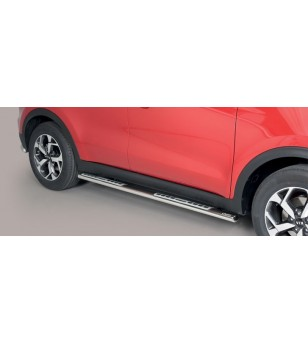 Sportage 18- Oval Design Side Protections Inox - DSP/403/IX - Sidebar / Sidestep - Unspecified