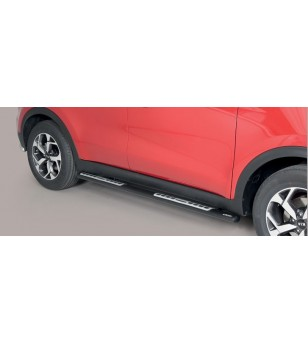 Sportage 18- Oval Design Side Protections Inox Black Powder Coated - DSP/403/PL - Sidebar / Sidestep - Unspecified
