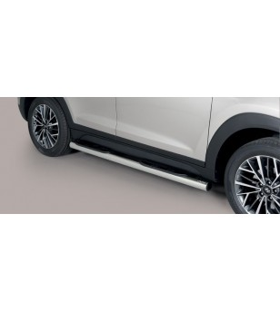 Tucson 18- Grand Pedana (Side Bars with steps) Inox - GP/391/IX - Bullbar / Lightbar / Bumperbar - Unspecified