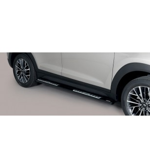 Tucson 18- Design Side Protections Inox Black Powder Coated - DSP/391/PL - Sidebar / Sidestep - Unspecified