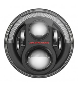 JW Speaker 8700 Evo J2 black headlamp w DRL Jeep JK - set - 11J2BLEUKITs  - Lighting - Unspecified