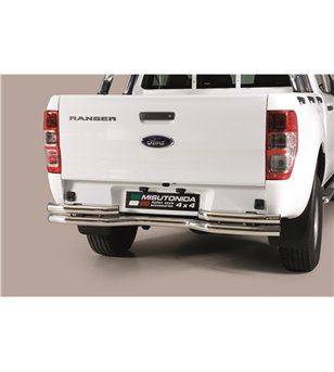 Ranger Double Cab 19- Double Bended Rear Protection - DBR/330/IX - Rearbar / Opstap - Verstralershop