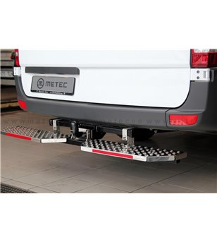 CITROEN BERLINGO 18+ RUNNING BOARDS to tow bar pcs EXTRA LARGE - 888423 - Rearbar / Rearstep - Verstralershop