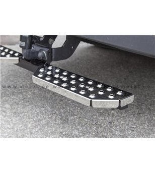 CITROEN BERLINGO 18+ RUNNING BOARDS to tow bar pcs LARGE - 888420 - Rearbar / Opstap - Metec Van - Verstralershop