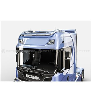 "SCANIA R/S/G/P Serie 16+ ROOF LAMP HOLDER with 2x Lucidity 18"" LEDBAR - Normal & High roof"