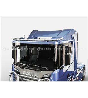 SCANIA R/G/P Serie 16+ ROOF LAMP HOLDER with 2x Rigid SR20 LEDBAR - Low roof - 864658 - Roofbar / Roofrails - Metec Truck - Vers