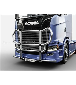SCANIA R/S/G Serie 16+ TRUCK GRIFFIN-1 CATTLEGUARD with NET - Medium & High bumper - 864545 - Bullbar / Lightbar / Bumperbar - V