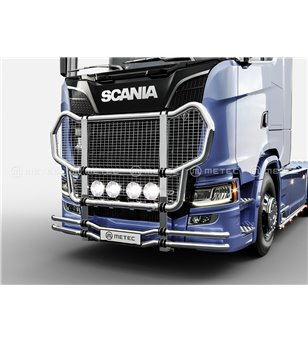SCANIA R/S/G Serie 16+ TRUCK GRIFFIN-2 CATTLEGUARD with NET - low & medium bumper - 864541 - Bullbar / Lightbar / Bumperbar - Me