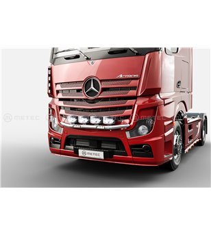 "MB ACTROS MP4 11+ CITY LAMP HOLDER FRONT with 6"" Lucidity LEDBARs - 2500mm cab - 856563 - Bullbar / Lightbar / Bumperbar - Metec"