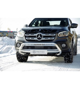 Mercedes X-Class 17+ EU EUROBAR BLACK pcs - 81881071 - Bullbar / Lightbar / Bumperbar - Metec Car/SUV - Verstralershop