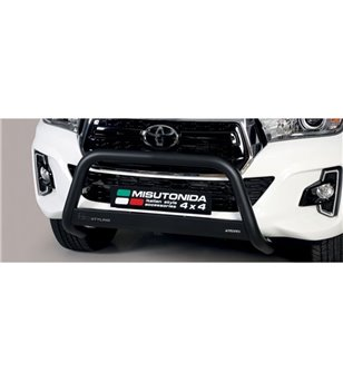 TOYOTA HILUX 19+ EC Approved Medium Bar Black Coated - EC/MED/410/PL - Bullbar / Lightbar / Bumperbar - Verstralershop