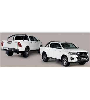 TOYOTA HILUX 19+ Oval Design Side Protections Black Coated - Double Cab