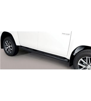 TOYOTA HILUX 19+ Grand Pedana (Side Bars with steps) Black Coated - Double Cab - GP/410/PL - Sidebar / Sidestep - Verstralershop