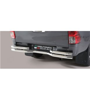 TOYOTA HILUX 19+ Double Bended Rear Protection Inox - DBR/410/IX - Rearbar / Rearstep - Verstralershop