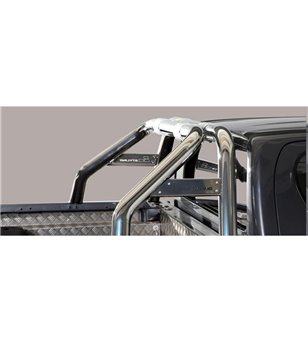 TOYOTA HILUX 19+ Roll Bar Mark on Tonneau Inox (2 pipes version)