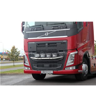 "VOLVO FH 13+ FRONT LAMP HOLDER CITY with 2x 6"" LEDBAR - 868673 - Bullbar / Lightbar / Bumperbar - Metec Truck - Verstralershop"