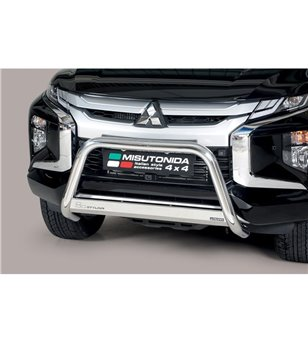 L200 DC 2019-, EC Approved Medium Bar Mark inox - EC/MED/460/IX - Bullbar / Lightbar / Bumperbar - Unspecified - Verstralershop
