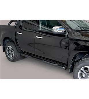 L200 DC 2019- Grand Pedana (Side Bars with steps) Inox Black Powdercoated - GP/390/PL - Bullbar / Lightbar / Bumperbar - Unspeci