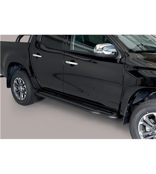 L200 DC 2019- Sidesteps Inox Black Powdercoated - P/390/PL - Bullbar / Lightbar / Bumperbar - Unspecified - Verstralershop