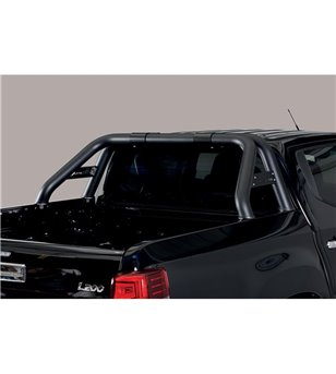 L200 DC 2019- Roll Bar Mark on Tonneau Inox (2 pipes version) Black Powdercoated - RLSS/K/2390/PL - Rollbars / Sportsbars - Unsp