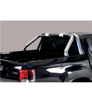 L200 DC 2019- Roll Bar on Tonneau Inox (2 pipes version) - RLSS/2390/IX - Rollbars / Sportsbars - Unspecified - Verstralershop
