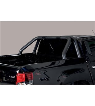 L200 DC 2019- Roll Bar on Tonneau Inox (2 pipes version) Black Powdercoated - RLSS/2390/PL - Rollbars / Sportsbars - Unspecified