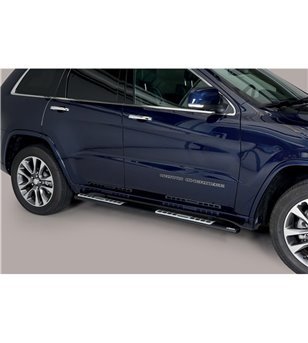 Grand Cherokee 15- Design Side Protection Oval Black Powder Coated - DSP/457/PL - Sidebar / Sidestep - Verstralershop