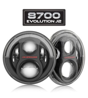 JW Speaker 8700 Evolution J2 carbon LED koplamp met DRL - set
