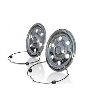 17,5 inch stainless wheel trim Swedish Style Front & Rear - BRA10175R - Other accessories - Verstralershop