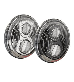 JW Speaker 8700 Evo 2 smartheat dual burn led black koplampset met DRL