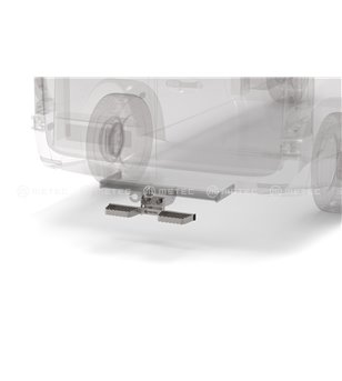 RENAULT TRAFIC 14+ RUNNING BOARDS to tow bar pcs SMALL - 888419 - Rearbar / Rearstep - Verstralershop