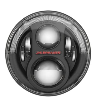 JW Speaker 8700 Evolution J2 black headlamp w DRL - 8700evoJ2blackdrl - Lighting - Unspecified - Verstralershop