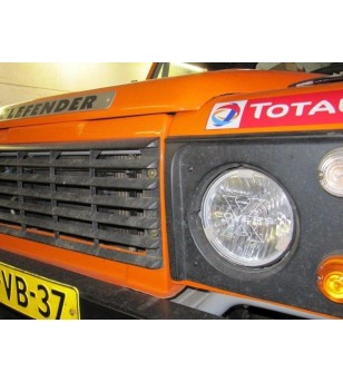 175mm Cover Transparant - Fits Defender headlights (set) - W7H4 - Other accessories - Xcovers