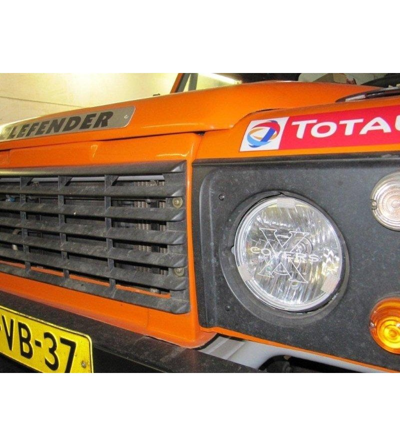 Universal 175mm Cover Transparant - Fits Defender headlights (set) - W7H4 - Other accessories - Xcovers - Verstralershop
