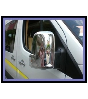 Mercedes Sprinter 2007+ MIRROR COVER - STEEL (set) rvs - 2102070074 - RVS / Chrome accessoires - Unspecified