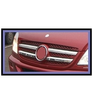 Mercedes Sprinter 2007+ FRONT GRILL - STEEL  -  stainless - 2104070012 - Stainless / Chrome accessories - Unspecified