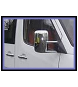 Mercedes Sprinter 1998-2006 MIRROR COVER - ABS CHROME (set) - 2102060025 - RVS / Chrome accessoires - Unspecified