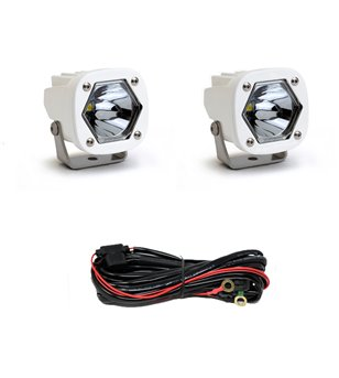 Baja Designs S1 - Spot LED White (pair) - 387801WT - Lighting - Verstralershop