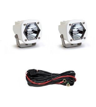 Baja Designs S1 - Spot Laser White (pair) - 387807WT - Lighting - Verstralershop