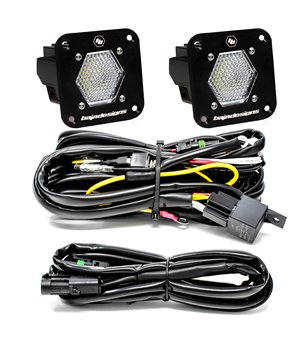 Baja Designs S1 Flush Mount - Work/Scene LED (pair) - Backup kit - 387809 - Lighting - Verstralershop