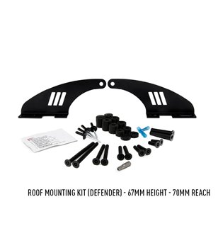 Defender Lazer Roofbar Mount Kit - 3001-DEF-67-K - Mounts - Verstralershop