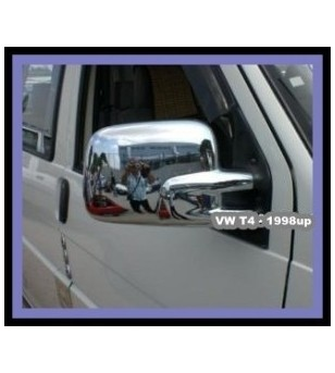 VW Transporter T4 -2003 MIRROR COVER - ABS CHROME (set) rvs - 3502290044 - RVS / Chrome accessoires - Unspecified