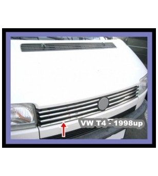 VW Transporter T4 -2003 FRONT GRILL - STEEL - LONG NOSE (set) rvs - 3504300041 - RVS / Chrome accessoires - Unspecified